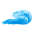 big cartoon surfing wave isolated vector image vector image