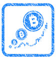 bitcoin inflation chart framed stamp vector image vector image