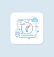 brand ambassador line icon holding megaphone sign vector image vector image