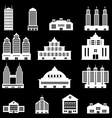 Building set 4 - White vector image vector image