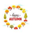 cartoon autumn trees vector image vector image