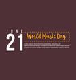 Celebration of world music day flat