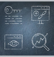 chalkboard seo icon set in line style vector image vector image
