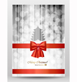 Christmas greeting-card vector image vector image