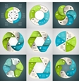 circle arrows ribbons infographics set Template vector image