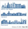cities usa - north las vegas garland richmond vector image vector image