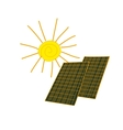 colored doodle solar panels vector image