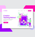 creative teaching method vector image