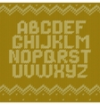 Crochet font knitted ornament vector image vector image