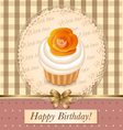 cupcake birthday vector image vector image