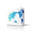 earth in box shapes vector image vector image
