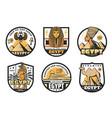 egypt travel icons ancient pharaoh pyramids vector image