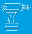 electric screwdriver drill icon outline vector image vector image