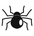 female mouse spider icon simple style vector image vector image