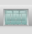 glass store facade shopfront window retail shop vector image