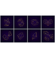 gold geometric crystals 3d diamond shapes