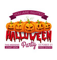 halloween banner 31 october party invitation vector image vector image