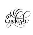handwritten calligraphy lettering word eyelash vector image vector image