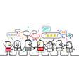 happy cartoon social people and 2021 super heroes vector image