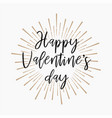 happy valentines day gold glitter background vector image