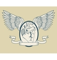 Heart with wings tattoo art design vector image vector image