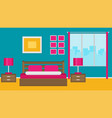 hotel room interior in flat style vector image vector image
