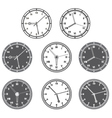 Hours set vector image vector image