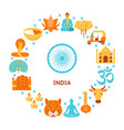 india culture concept banner in flat style vector image