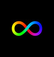 infinity symbol icon logo template loop design vector image