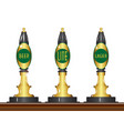 isolated beer pumps vector image vector image