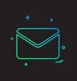 letter icon design vector image