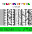 memphis pattern set vector image