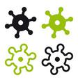 minimal useful coronavirus flat icon vector image vector image