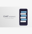 mobile ui design concept trendy chat application vector image vector image