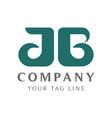 modern ab letter logo template for beauty