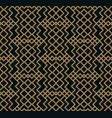 modern geometric tiles pattern golden lined vector image