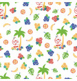 monkey toucan tropical background pattern vector image vector image