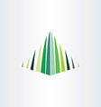 mountain hill icon logo vector image vector image