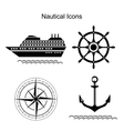 Nautical symbols vector image vector image