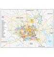 neighborhood map houston texas vector image vector image