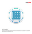 office safe icon - white circle button vector image