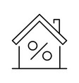 outline house mortgage rate icon vector image