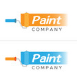paint company - business logo design concept vector image vector image