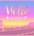poster with lettering hello summer vector image vector image