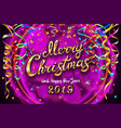 purple colorful festive for celebratory party and vector image