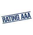 rating aaa stamp vector image vector image