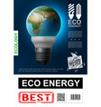 realistic eco energy poster vector image vector image
