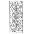 renaissance oblong panel is a design found on vector image vector image