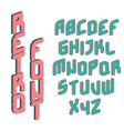Retro color font vector image vector image