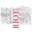 Riot word cloud concept